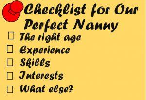 nanny checklist